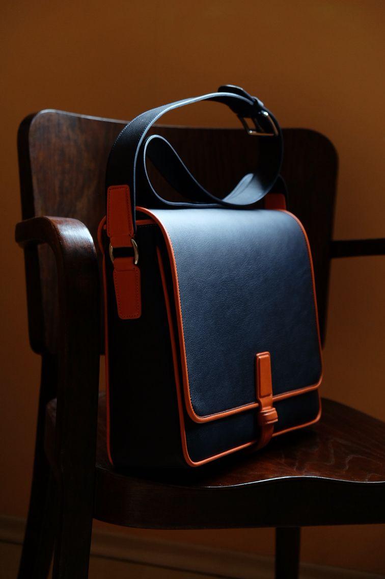 Bespoke leather messenger bag - hand sewn | plus size clothing ...
