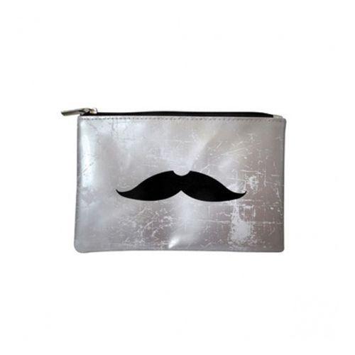 Pochette Gentleman moustache - coloris argent : en vente sur RueDuCommerce