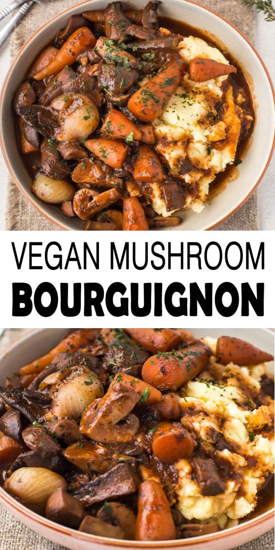 Mushroom Bourguignon Recipe