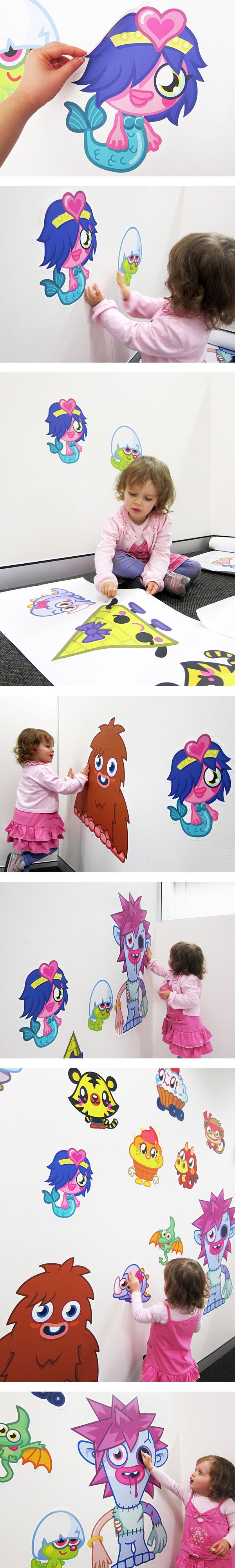 WALLS 360 wall graphics Moshi Monsters http//www