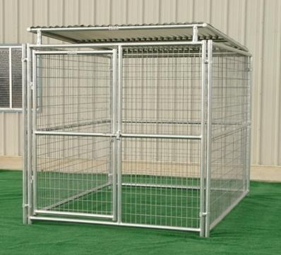 Single Run Outside Steel Kennels With Roof Shelter Made In Usa Via Buydirectusa Com Dog Kennel Dog Kennel Outdoor Outdoor Dog