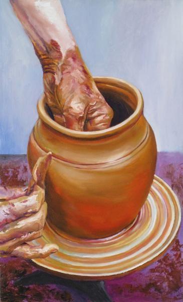 Total Art : Obra 'ALFARERO' del artista LEOPOLDO GONZALEZ ANDRADES