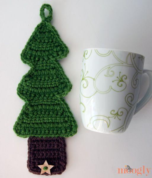 Christmas Tree Coffee Cozy | Crafts | Pinterest | Ganchillo crochet ...