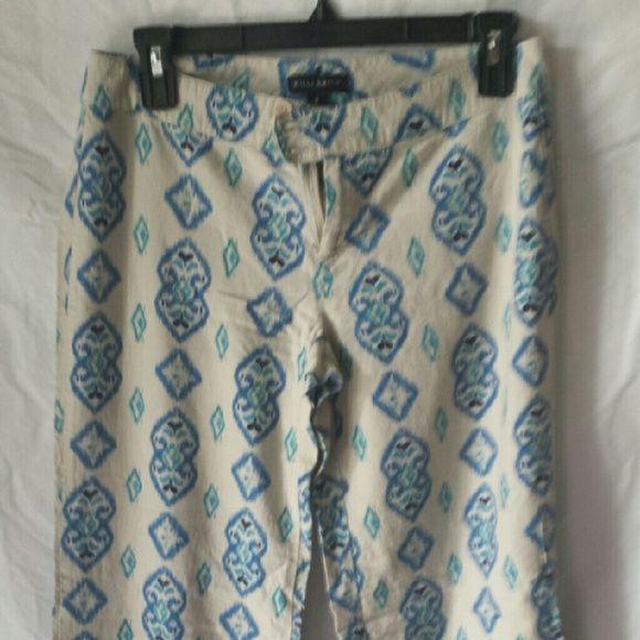 Willie Smith linen print pants Lightweight comfortable linen pants. Size 0. Wide leg. Willi Smith Pants Wide Leg