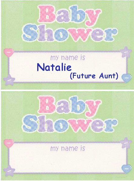 Baby Shower Name Tags Decorating Ideas Pinterest Decor Ideas