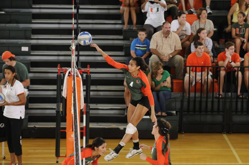 Volleyball Defeats First Place Nc State 3 1 University Of Miami University Of Miami Hurricanes Volleyball
