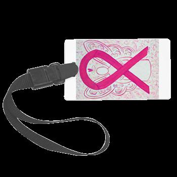 Hot Pink Awareness Ribbon Angel Luggage Tag