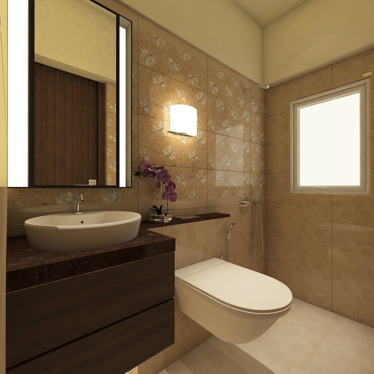 Master Toilet Residence Sample Flat For Zara Habitats LLP Mumbai IN By SAIMA