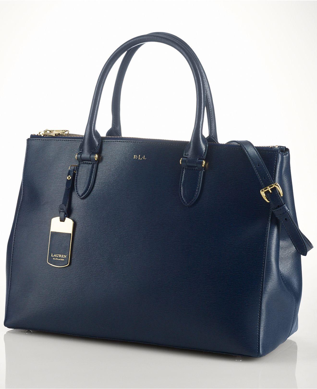 ef1df56a1d Lauren Ralph Lauren Newbury Double Zip Satchel - Lauren Ralph Lauren -  Handbags   Accessories - Macy s  298