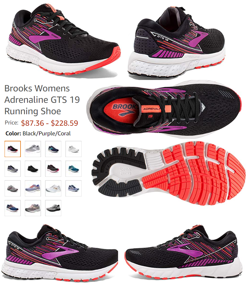 Brooks Womens Adrenaline GTS 19 Running