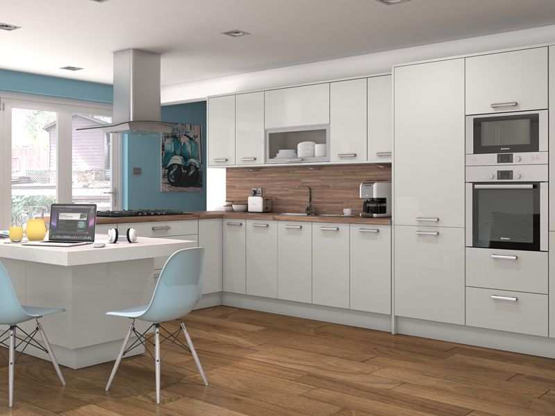 Light Kitchens altino light grey kitchens - buy altino light grey kitchen units