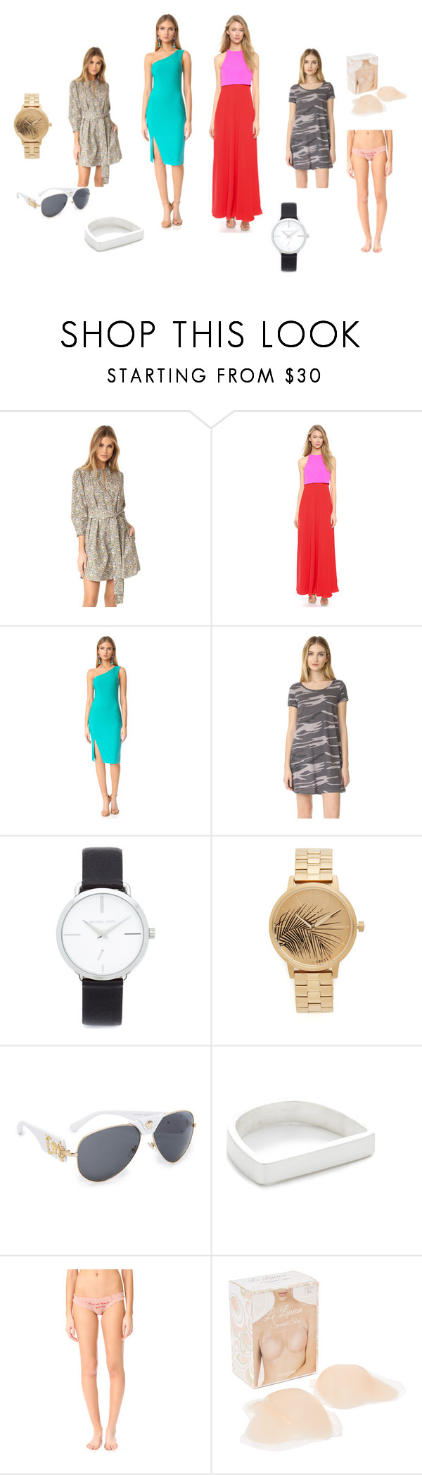 """""""Dress Well, Keep It Simple..!!"""" by yagna ❤ liked on Polyvore featuring Rebecca Taylor, Jill by Jill Stuart, Likely, Z Supply, Michael Kors, Nixon, Versace, Maya Magal, LoveStories and Fashion Forms"""