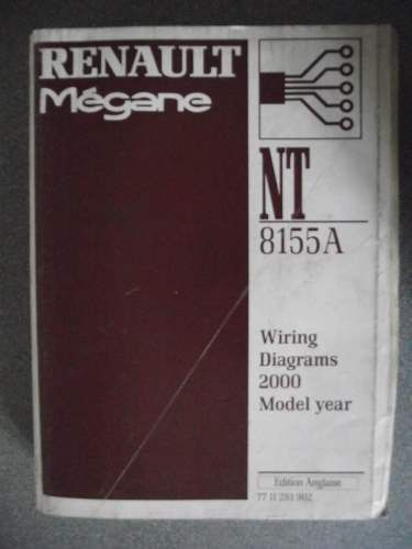 Renault Megane Wiring Diagrams Manual 2000 Model Year
