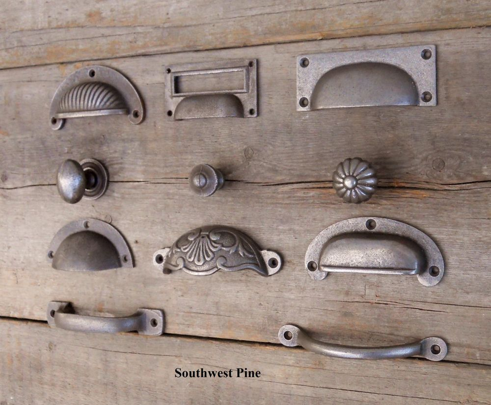 Kitchen Cabinet Door Knobs Custom Table West Country Pine On Ebay Cast Iron Cup Handle Cupboard Knob Antique Finish