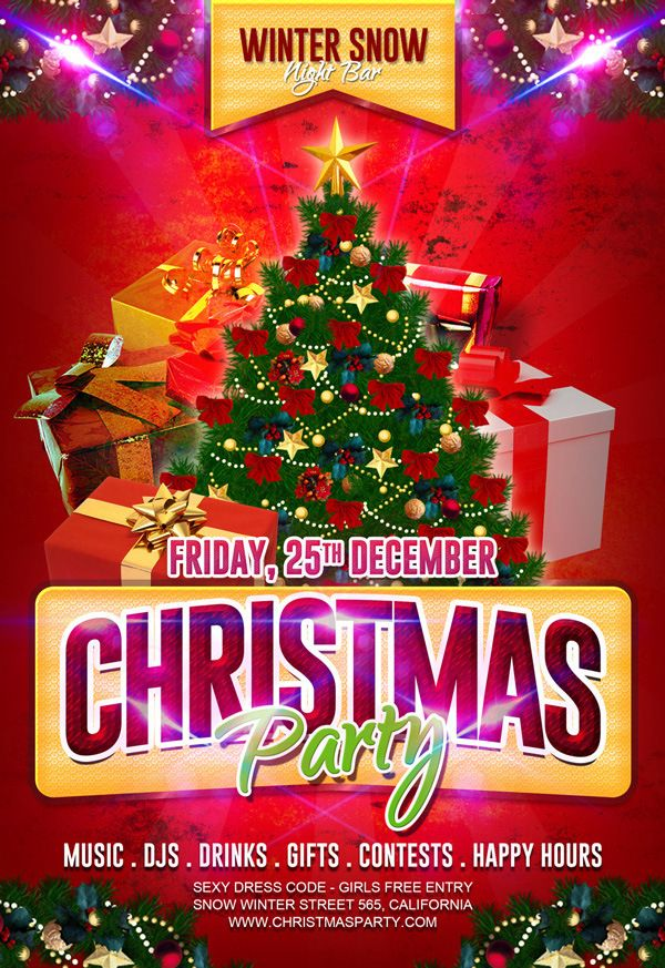 Christmas Contest Flyer.Free Christmas Party Flyer Template Christmas Flyer Free