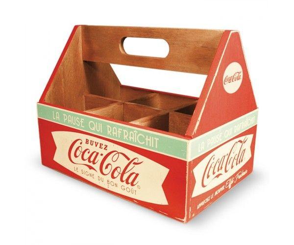 Caisse Bois Porte verres Coca Cola Natives
