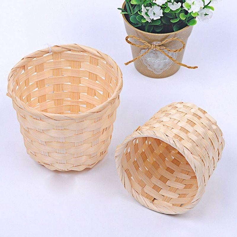 Cheap Storage Baskets Buy Directly From China Suppliers Handmade Sundries Organizer Rattan Plant Box Wicker Basket Plant Box Storage Baskets Flower Pot Garden