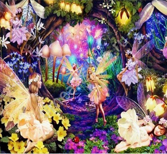 Феи в сказочном лесу, картины раскраски по номерам, размер ...