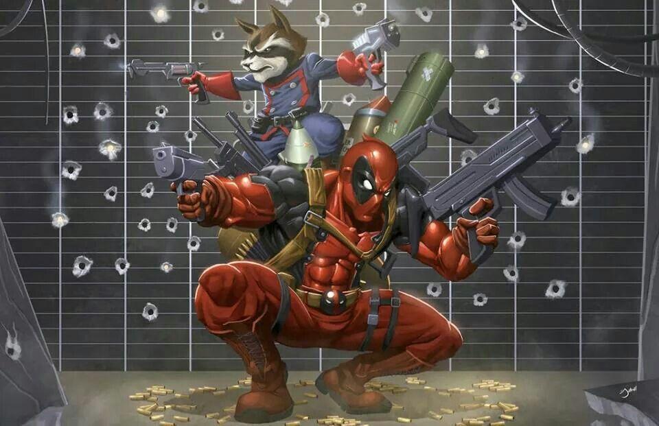 Deadpool and Rocket Raccoon