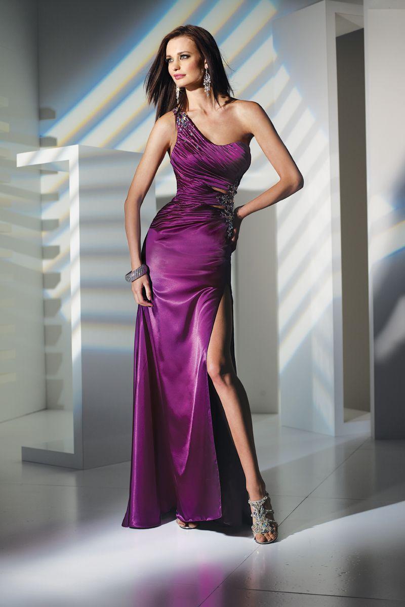 Pink n purple dress  Alyce Designs  u Pink One Strap Prom Dresses Online