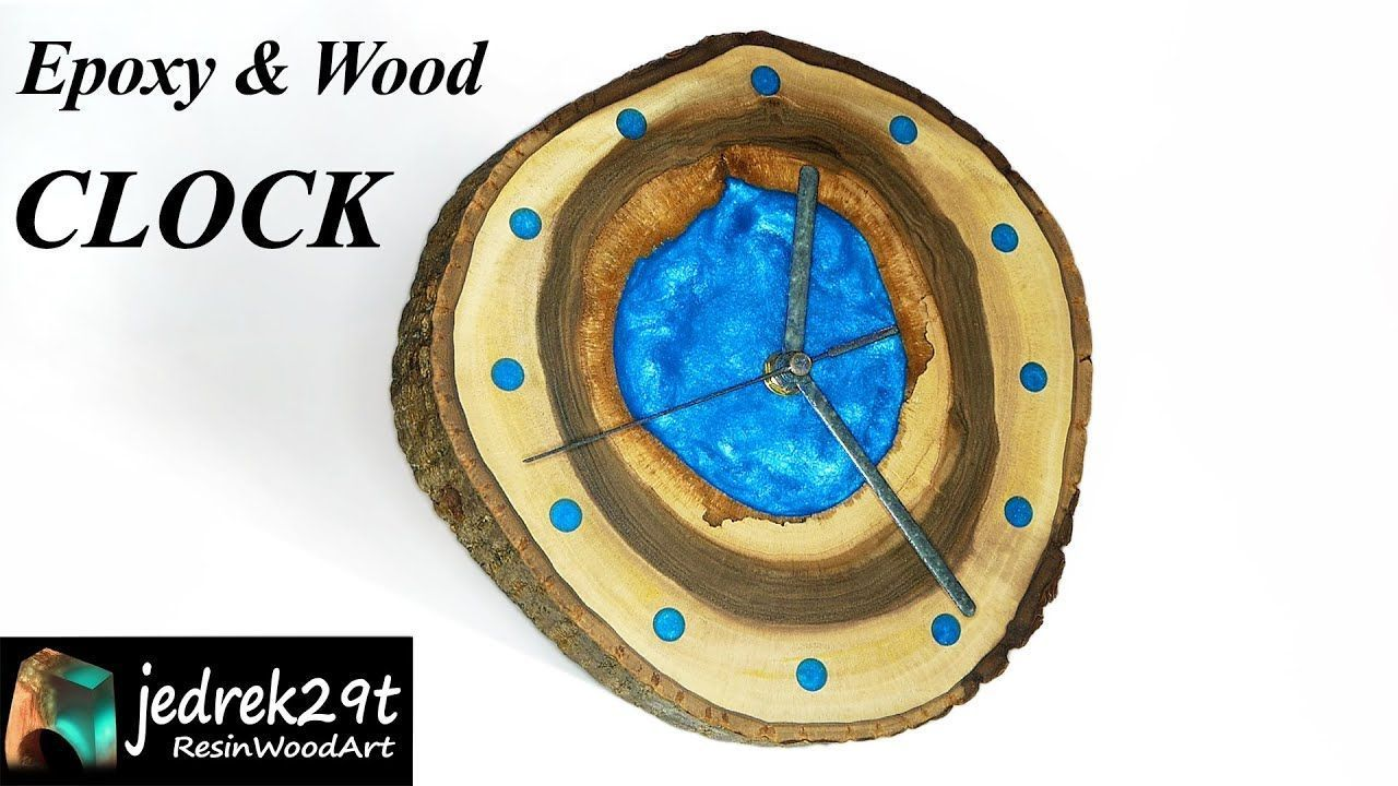 Epoxy and Wood Clock. DIY a Simple Way / RESIN ART#art #clock #diy #epoxy #resin...#artart #clock #diy #epoxy #resin #simple #wood