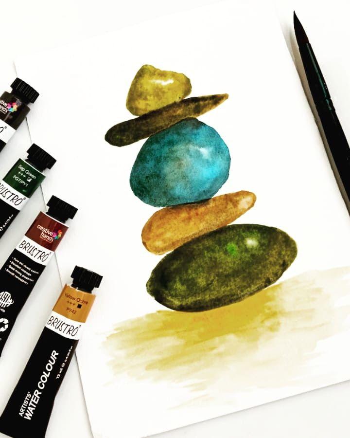 #watercolorillustration stone painting #watercolorart #artillustration #art #watercolorpainting #artist #watercolorist #artoftheday #pinterestart #watercoloring #watercolorbeginner #explore