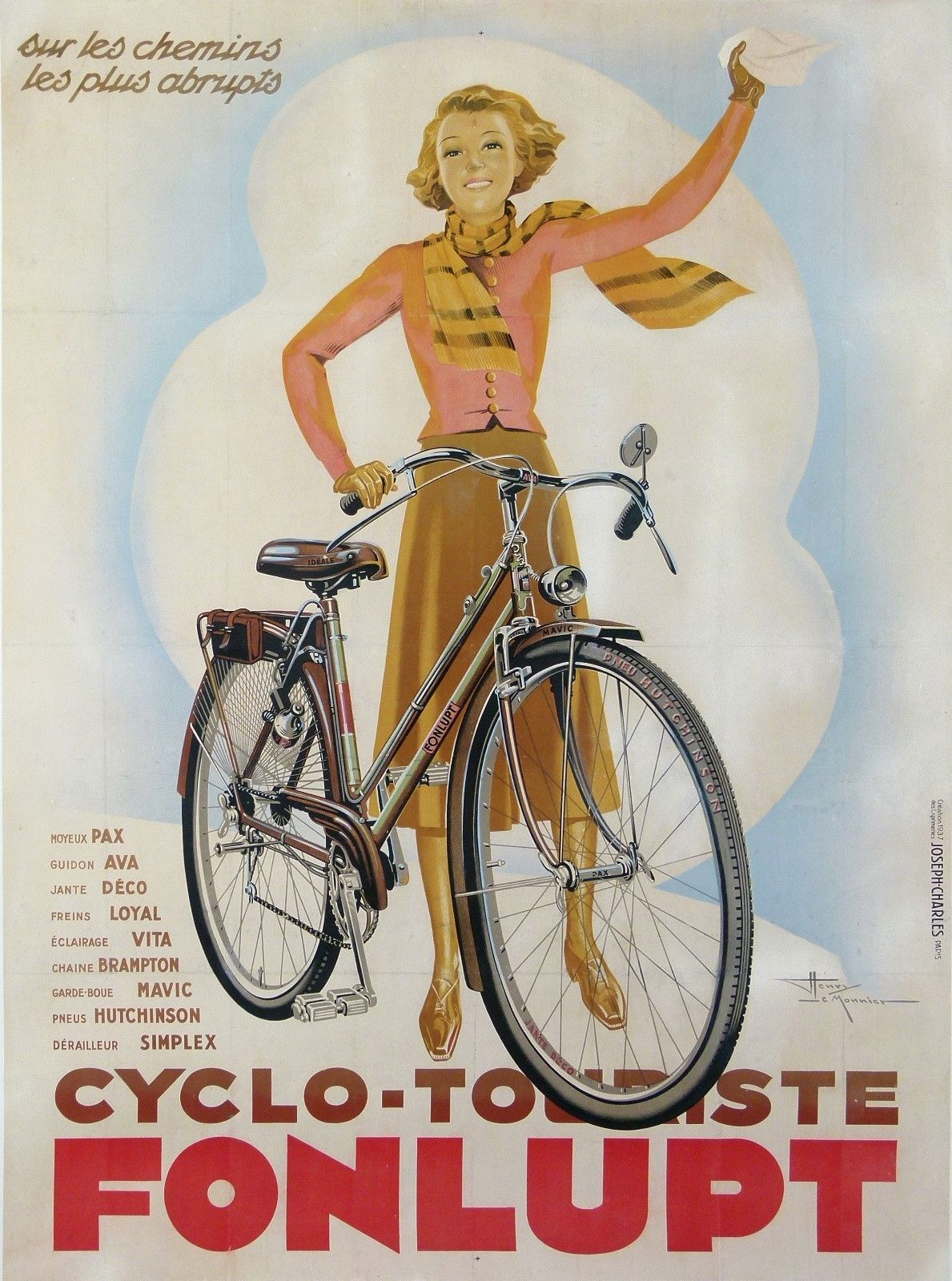 BICYCLE VINTAGE AD POSTER Hutchinson RARE HOT NEW
