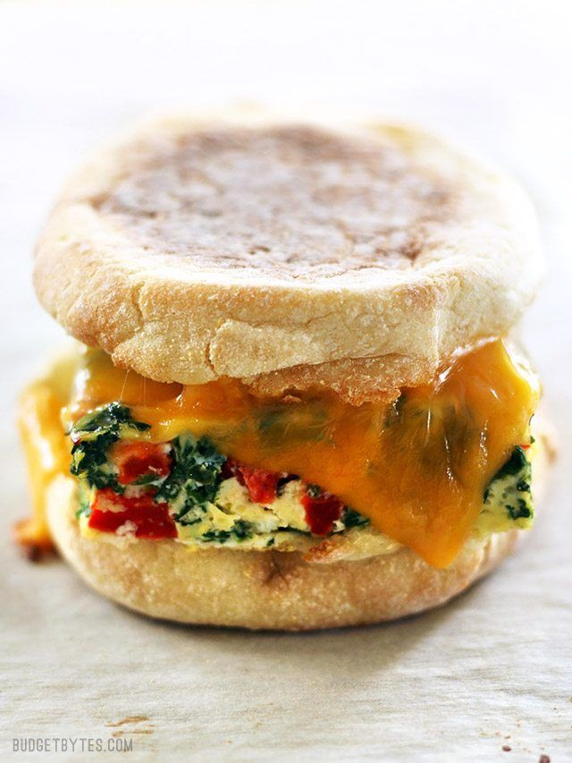 Veggie Packed Freezer Ready Breakfast Sandwiches Are A Filling Deliciouicrowavable Make Ahead For Busy Mornings Budgetbytes