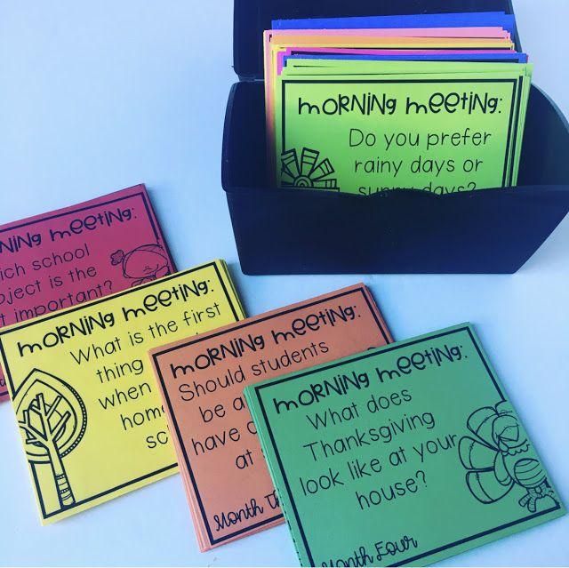 Morning Meetings in Fifth Grade   Hello Fifth is part of Morning meeting -