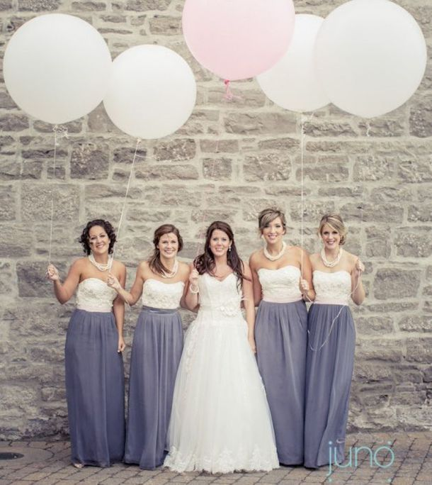 Two-tone Bridesmaid Dresses | Wedding, Weddings and Bridal parties