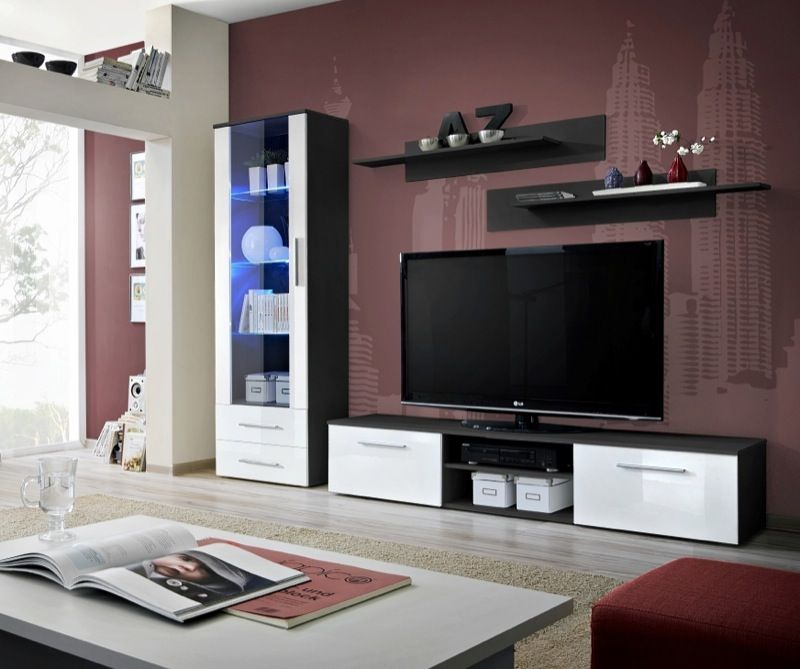 Modern Wall Units For Living Room: Entertainment Wall Units