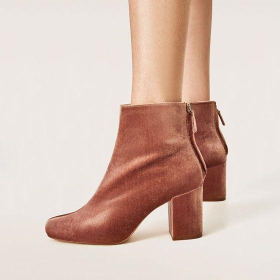 Bianco Chaussures Chaussures Marron Avec Poche Talon Bloc Pour Dames Evitbv69