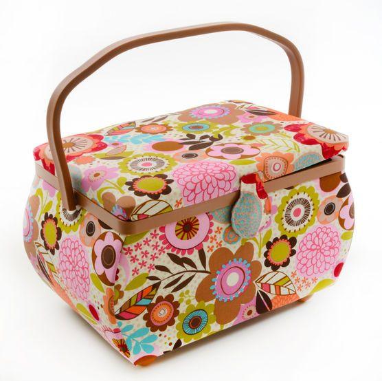 Curvy Rectangle Sewing Basket- Floral Print (JoAnn)   My