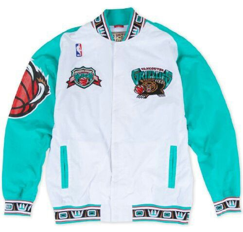 088c3f3d97f Vancouver Grizzlies Mitchell   Ness Authentic 95-96 Warmup Premium Jacket  (White)
