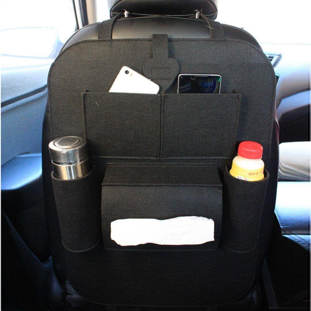 Multi Pocket Car Back Seat Woolen Organizer Car Seat Organizer Hanging Bag Storage Bags Organization