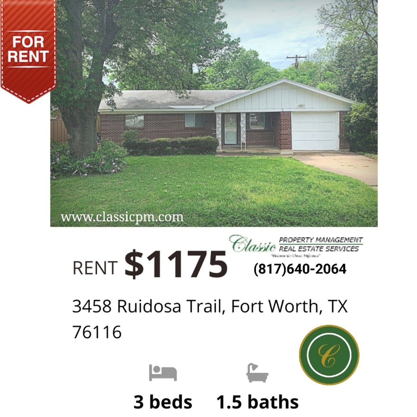 Beautiful 3 Bedroom 1 5 Bath Houseforrent In West Fortworth Texas Real Estate Services Fort Worth Texas Real Estate