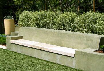 Garden Architecture Robert Trachtenberg Modern Landscape San Francisco Garden Architecture Concrete Backyard Concrete Garden Concrete Garden Bench