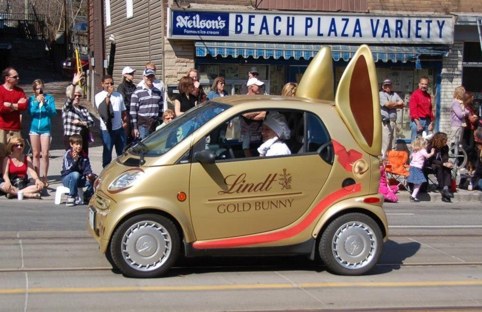 Easter Lindt Chocolate Easter Bunny Car Blood Pressure