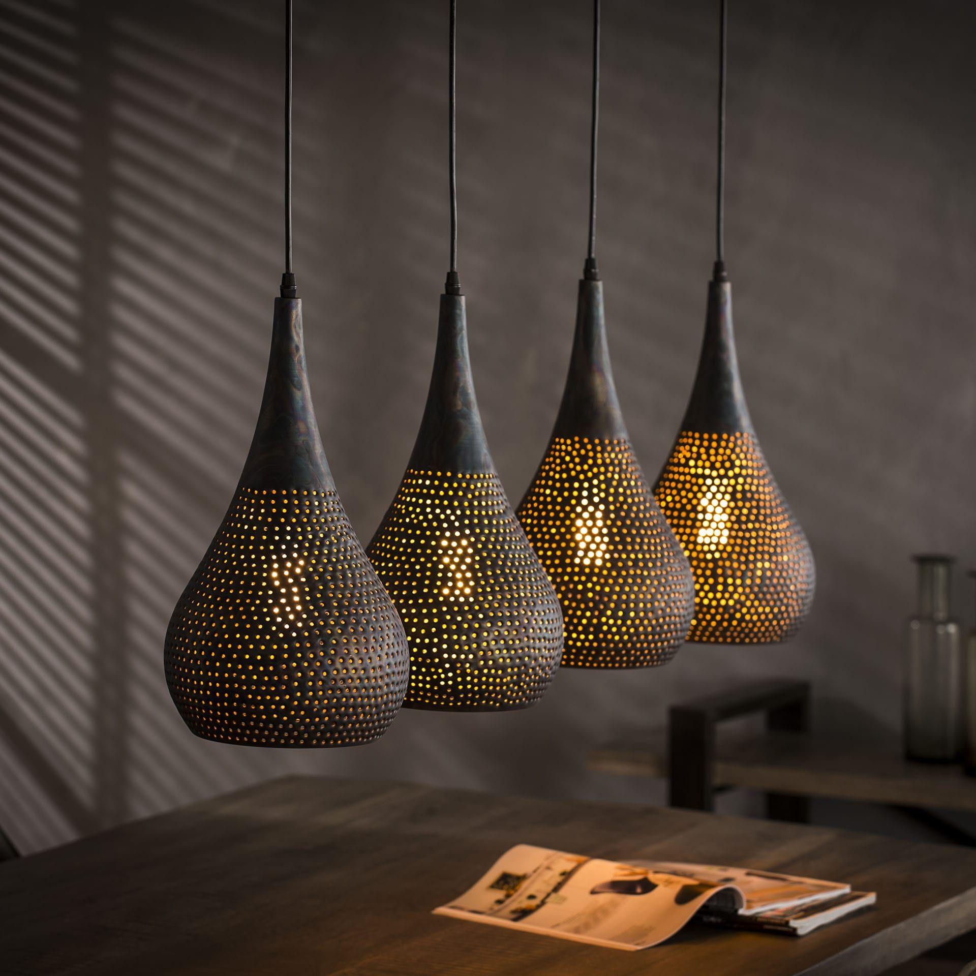 Mioni Hanglamp Ponce 4 Lamps Hanglamp Lampen En Hangende Lampen