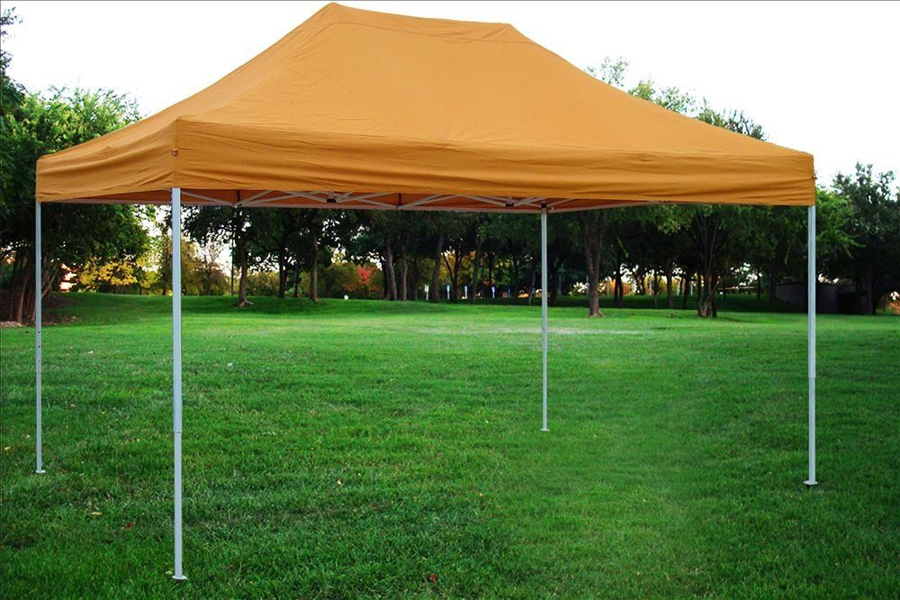 10x15 Pop Up Canopy Wedding Party Tent Gazebo Ez Burnt Orange F