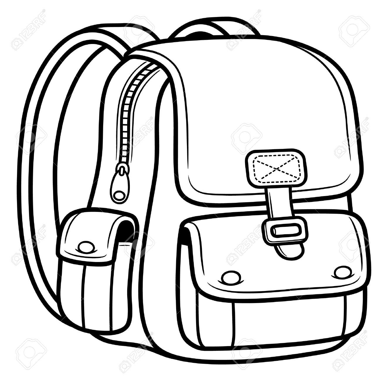 Backpack Coloring: School Bags, Bags, Back To
