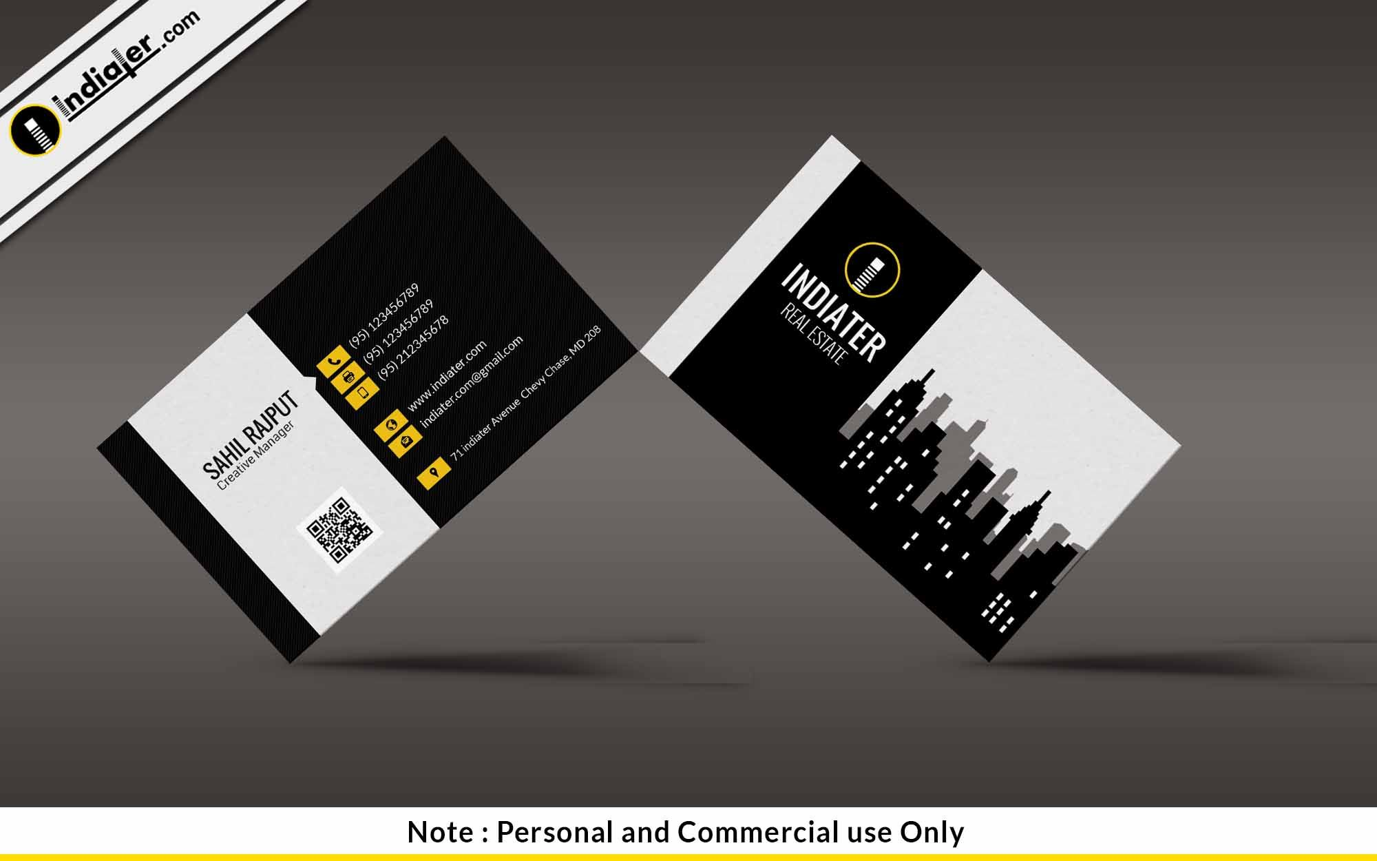 Free modern real estate business card psd template free business free modern real estate business card psd template colourmoves
