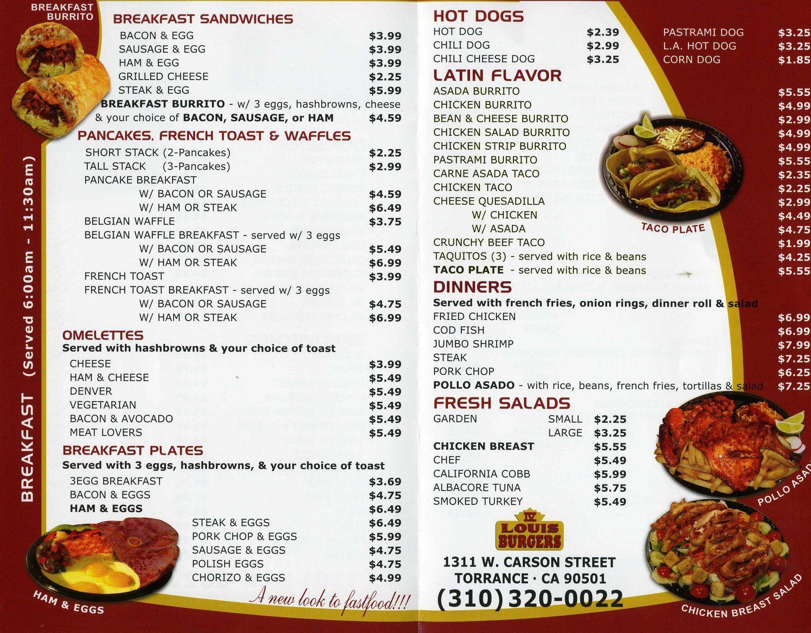 King Louis\' Magical Colossal Burger! | Soul food menu, Food menu and ...