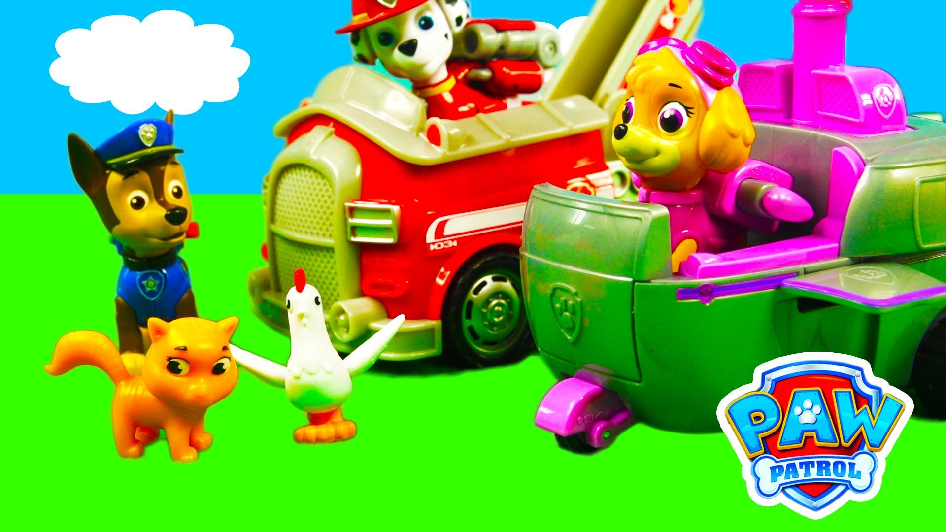 PAW PATROL PUP FU KUNG FU FIGHTS RUBBLE VS WALLY THE