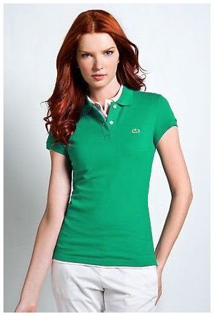 ralph lauren sales! Soldes Polo Lacoste Femmes revers court T Shirt ... e4bb1cd4ae3ad