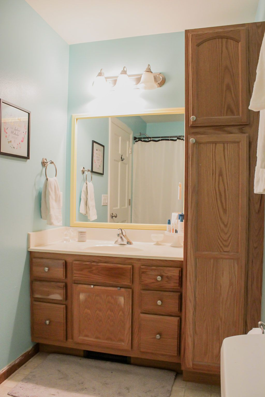 Our Bathroom Makeover Before And After Saffron Avenue Bathroom Makeover Small Bathroom Makeover Bathroom Makeovers On A Budget