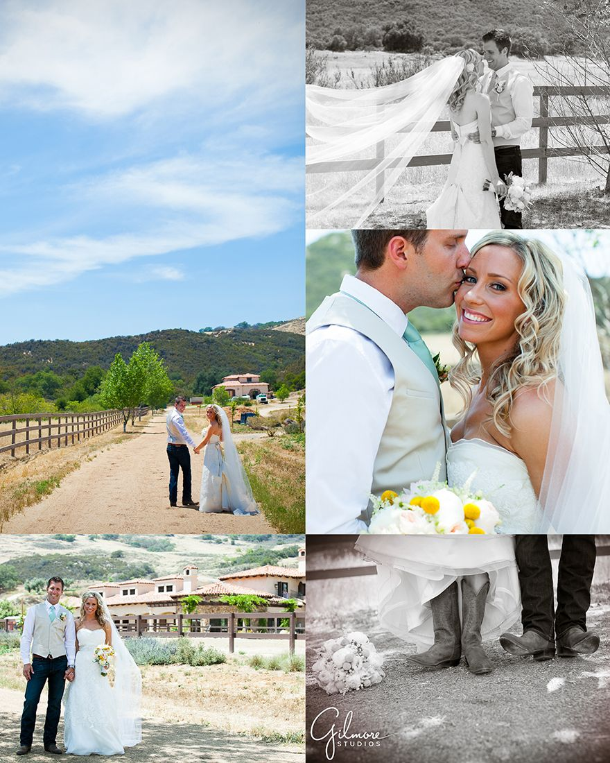 Wedding dresses with cowgirl boots  J  Jus Country Themed Ranch Wedding  Murrieta Photographer