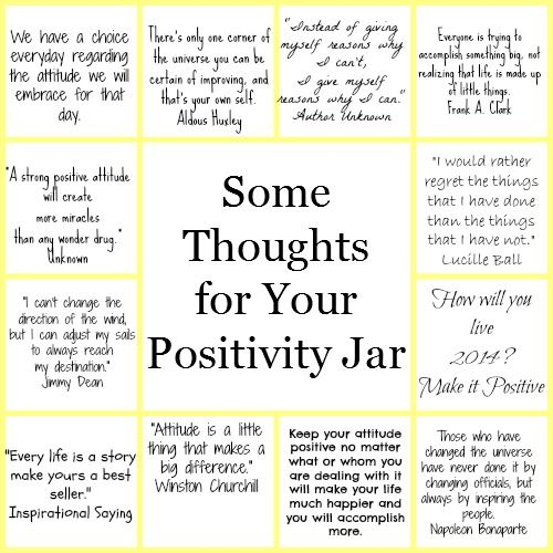 Diy Year Of Positivity Jar Quote Jar Positivity Challenge Positive Quotes