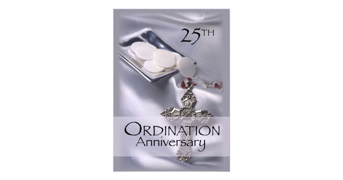 Invitation for th ordination anniversary anniversaries