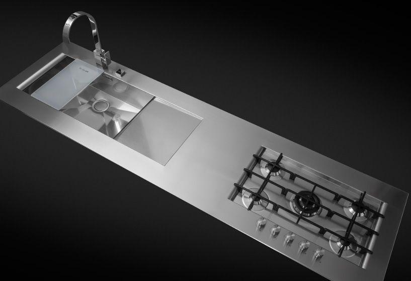 Bordi di top cucina in acciaio | Architetture e design case ...